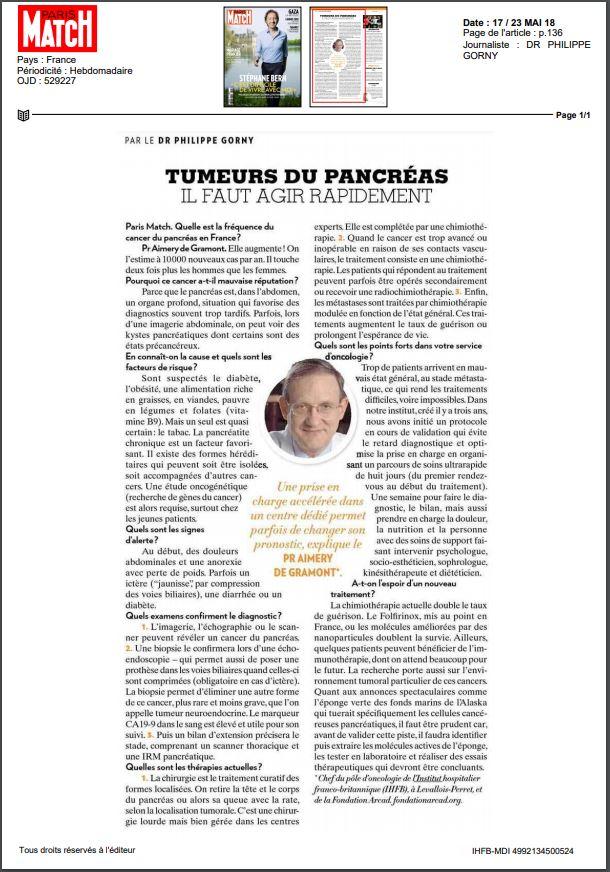 Interview Paris Match